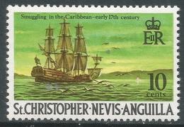 St Kitts-Nevis. 1970 QEII. 10c MH. SG 213 - St.Christopher-Nevis-Anguilla (...-1980)