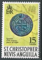 St Kitts-Nevis. 1970 QEII. 15c MH. SG 214a - St.Christopher-Nevis-Anguilla (...-1980)