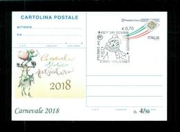 INTERI POSTALI-SOPRASTAMPA PRIVATA- CARNEVALI-MARCOFILIA-SAN GIOVANNI IN PERSICETO - Carnevale