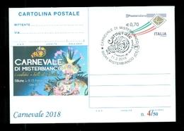 INTERI POSTALI-SOPRASTAMPA PRIVATA- CARNEVALI-MARCOFILIA-MISTERBIANCO - Carnevale