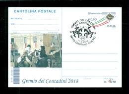 INTERI POSTALI-SOPRASTAMPA PRIVATA- CARNEVALI-MARCOFILIA-SARTIGLIA-ORISTANO-GREMIO DEI CONTADINI - Folklore