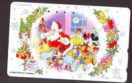 Télécarte Japon * 110-133762 * DISNEY Disneyland (6396) NOEL * CHRISTMAS Japan Phonecard - Disney