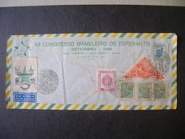 ESPERANTO - GREAT ENVELOPE WITH LABEL OF THE XII BRAZILIAN CONGRESS IN THE STATE - Esperanto