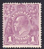 Australia SG 57 1922 King George V,1d Violet,Single Watermark, Mint Hinged - Mint Stamps