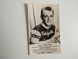 CYCLISME CICLISMO RASPORT CYCLING : Carte Publicitaire HELYETT LEROUX Jean GRACZYK 1958 - Cyclisme