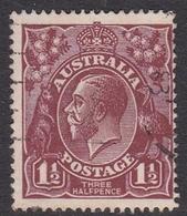 Australia SG 59 1919 King George V,Three Half Penny,deep Red Brown,Single Watermark,used - 1913-36 George V: Heads