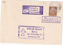 ALLEMAGNE 1936 LETTRE DE WALZWERF ÜBER SCHWARZENBERG - Storia Postale
