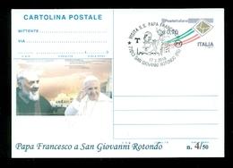 INTERI POSTALI-SOPRASTAMPA PRIVATA- RELIGIONE-PAPI-SANTI-PAPA FRANCESCO-PADRE PIO - Papi