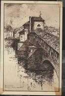G. CALLERI - PAVIA - PONTE COPERTO - EDIZ PREDA - FORMATO PICCOLO - VIAGGIATA 12.10.1952 - Pittura & Quadri