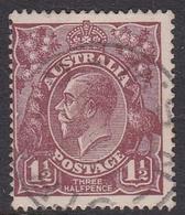 Australia SG 59a 1920 King George V,Three Half Penny,chocolate,Single Watermark, Used - 1913-36 George V: Heads