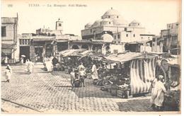 POSTAL    -TUNEZ  - AFRICA  - LA MOSQUÉE SIDI MAHREZ  (LA MEZQUITA SIDI MAHREZ) - Túnez
