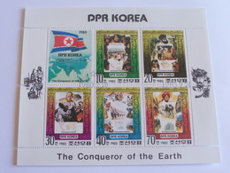 6 Timbres The Conqueror Of The Hearth- Dpr Korea - Geografía