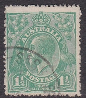 Australia SG 61 1923 King George V,Three Half Penny Green,Single Watermark, Used - Used Stamps