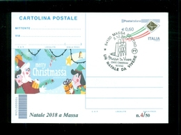 INTERI POSTALI-SOPRASTAMPA PRIVATA- -EVENTI-MASSA-NATALE DA VIVERE - Natale
