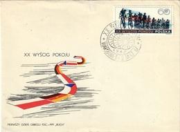 POLAND 1967 - XX INTERNATIONAL CYCLING RACE FOR THE PEACE - WARSZAWA / BERLIN / PRAHA 1-2.5.1967 - SCOTT #1501 - Ciclismo
