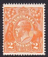 Australia SG 62a 1921 King George V,2d Brown Orange,Single Watermark, Mint Hinged - Mint Stamps