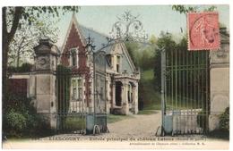 LIANCOURT (60) ENTREE PRINCIPALE Du CHATEAU LATOUR ( MAISON De GARDE ) CARTE COLORISEE. - Liancourt