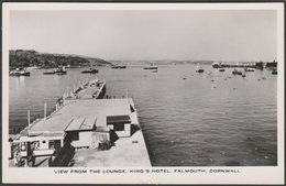 View From The Lounge, King's Hotel, Falmouth, Cornwall, C.1950s - Eversheds RP Postcard - Falmouth