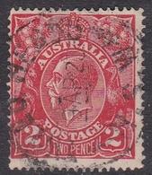 Australia SG 63 1922 King George V,2d Red,Single Watermark, Used - 1913-36 George V: Heads