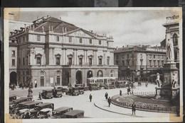 LOMBARDIA - MILANO - PIAZZA DELLA SCALA - ANIMATA AUTO TRAM - FORMATO PICCOLO ED. CALCOGRAFICO VITIGLIANO NUOVA - Milano
