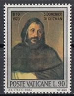 """Vaticano 1971 Blf. 511 """"S. Domenico Guzman"""" Quadro Dipinto  Ritratto Tiziano Vecellio Titian Paintings MNH - Religione"""