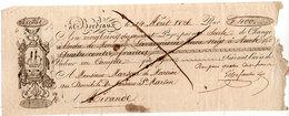 Lettre De Change - BORDEAUX - 1826 - Illustration  (107638) - Bills Of Exchange