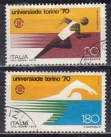Repubblica Italiana, 1970 - Universiadi - Nr.1125/1126 Usati° - 6. 1946-.. Repubblica
