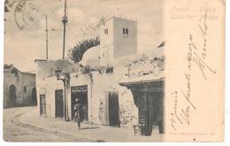 POSTAL   TUNIS (TUNEZ) AFRICA  - VIEUX QUARTIER ARABE  (ANTIGUO CUARTEL ARABE) - Túnez