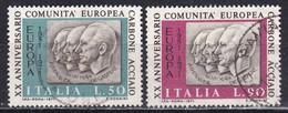 Repubblica Italiana, 1971 - C.E.C.A. - Nr.1145/1146 Usato° - 6. 1946-.. Repubblica