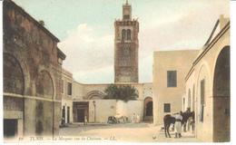 POSTAL    TUNIS (TUNEZ) AFRICA  - LA MOSQUÉE VUE DU CHÂTEAU (LA MEZQUITA VISTA DESDE EL CASTILLO) - Túnez