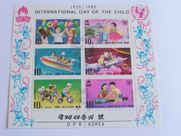 6 Timbres International Day Of The Child- Dpr Korea - Childhood & Youth