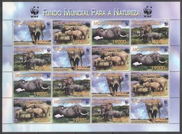 G972 2002 MOCAMBIQUE WWF FUNDO MUNDIAL PARA A NATUREZA ANIMALS ELEPHANT 1SH MNH - Other