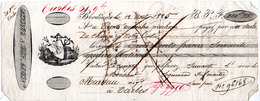 Lettre De Change - BORDEAUX - 1825 - Illustration Marine (107639) - Bills Of Exchange