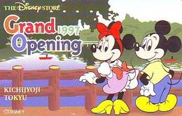 Télécarte JAPON * 110-185628 * DISNEY STORE (6404) PHONECARD JAPAN * Telefonkarte * GRAND OPENING * TIRAGE 3.500 * - Disney