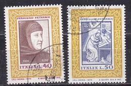 Repubblica Italiana, 1974 - Francesco Petrarca - Nr.1262/1263 Usato° - 6. 1946-.. Repubblica