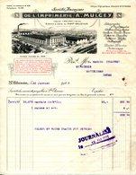42.SAINT ETIENNE.SOCIETE ANONYME DE L'IMPRIMERIE A.MULCEY AU MONT BELLEVUE. - Imprimerie & Papeterie