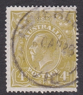 Australia SG 80 1924 King George V,4d Olive-yellow Green,watermark, Used - 1913-36 George V : Têtes