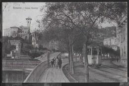 LIGURIA GENOVA - CORSO FIRENZE - TRAM - ANIMATA - FORMATO PICCOLO - ED. BRUNNER COMO - VIAGGIATA 1927 - Genova