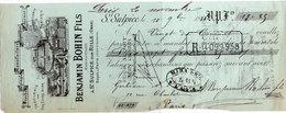 Lettre De Change - SAINT SULPICE SUR RILLE - Benjamin Bohin Fils  - 1884 - Illustration Epinglerie (107642) - Bills Of Exchange
