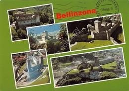 Cartolina Bellinzona Veduta Dei Castelli 5 Vedute - Non Classificati
