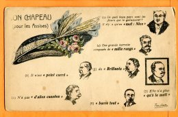HC801, Son Chapeau Pour Les Assises, Pointcaré, Brillants, Millerans, Hommes D'Etat, Ferchan, Humour, Non Circulée - People