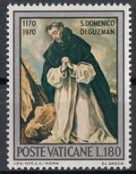 """Vaticano 1971 Blf. 512 """"S. Domenico (Guzman) In Preghiera"""" Quadro Dipinto  Ritratto El Greco Paintings MNH - Religione"""