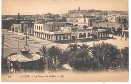 POSTAL    SOUSSE  -TUNEZ  - LA POSTE ET LA CASBAH  ( CORREO Y LA CABASH) - Marruecos