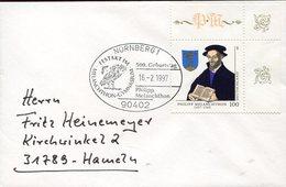 35305 Germany, Special Postmark 1997 Nurnberg Philipp Melanchton (luther) Showing Eul,owl, - Christentum