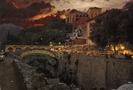 Cartolina Loano Borgo Castello Notturno 1972 - Savona