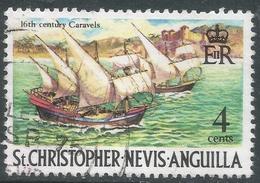 St Kitts-Nevis. 1970 QEII. 4c Used. SG 210 - St.Christopher-Nevis-Anguilla (...-1980)