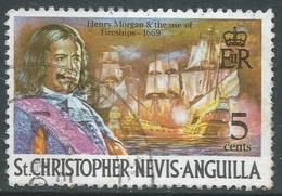 St Kitts-Nevis. 1970 QEII. 5c Used. SG 211 - St.Christopher-Nevis-Anguilla (...-1980)