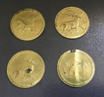 4 Antichi Gettoni Gioco SPIEL MARKE : Cervo, Cavallo, Aquila Con Serpente - Germania
