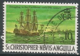 St Kitts-Nevis. 1970 QEII. 10c Used. SG 213 - St.Christopher-Nevis-Anguilla (...-1980)