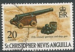 St Kitts-Nevis. 1970 QEII. 20c Used. SG 215 - St.Christopher-Nevis-Anguilla (...-1980)